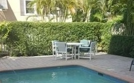 Your semi-private pool at 1085 5th St S, Naples FL