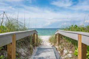 Walkway to the Naples beach