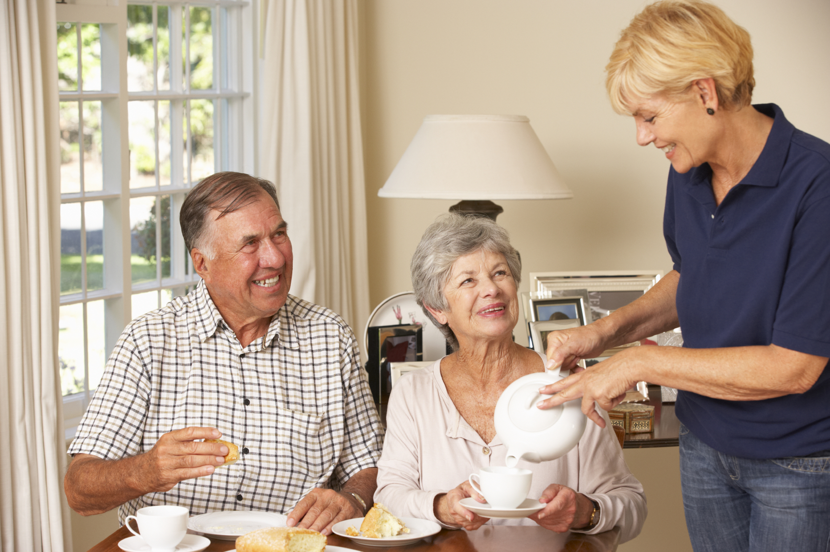 Senior Couple with Caregiver in Naples FL