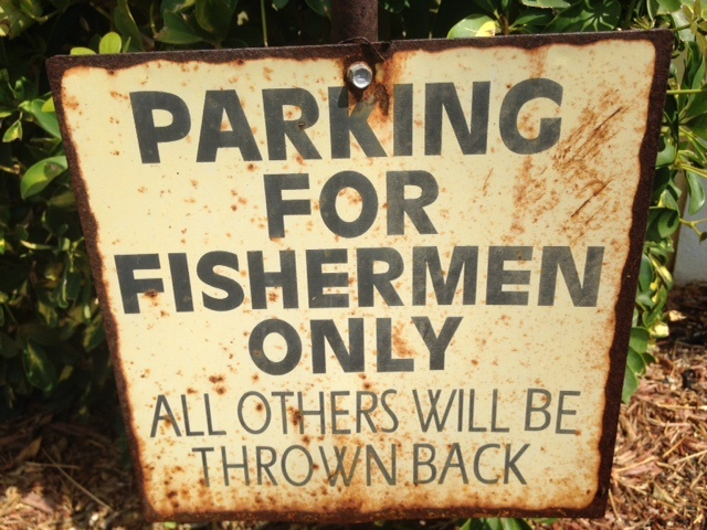 Parking for fisherman sign in Everglades City